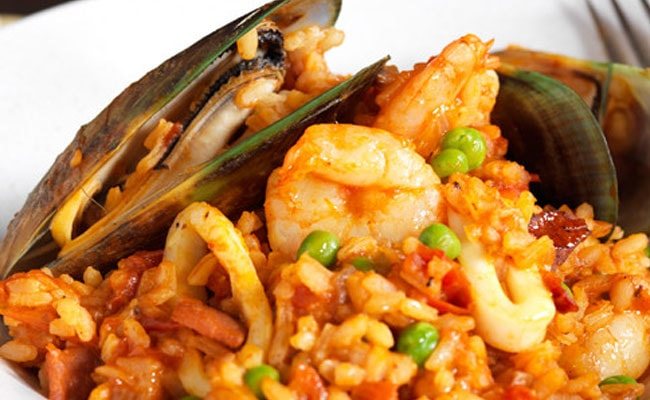 Seafood Curry Paella